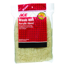 Ace 10 in. L x 7 in. W Acrylic Blend Wash Mitt 1 pk