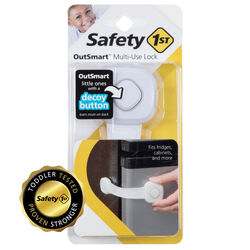 Safety 1st  OutSmart  White  Plastic  Multi-Use Lock  1 pk