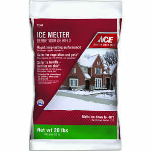 Ace  Sodium Chloride, Magnesium Chloride and MG-104  Ice Melt  20 lb. Granule