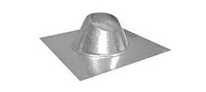 Imperial Manufacturing  8 in. Dia. Galvanized Steel  Adjustable Fireplace Roof Flashing