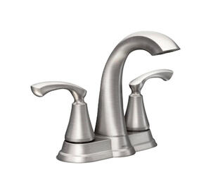 Moen  Tiffin  Brushed Nickel  Two Handle  Lavatory Faucet  4 in.