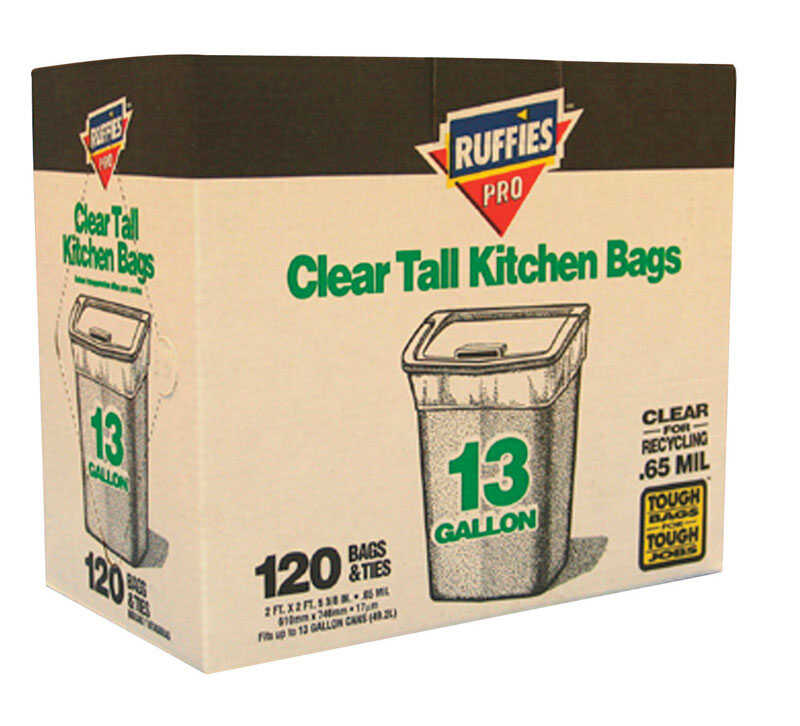 Ruffies  Pro  13 gal. Trash Bags  Twist Ties  120 pk