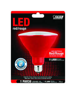 FEIT Electric  5 watts PAR38  LED Bulb  1400 lumens Red  Spotlight  120 Watt Equivalence