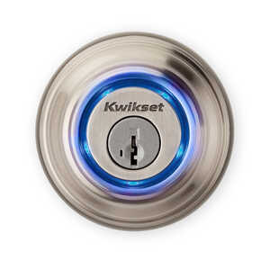 Kwikset  Single Cylinder Deadbolt  Metal  Satin Nickel