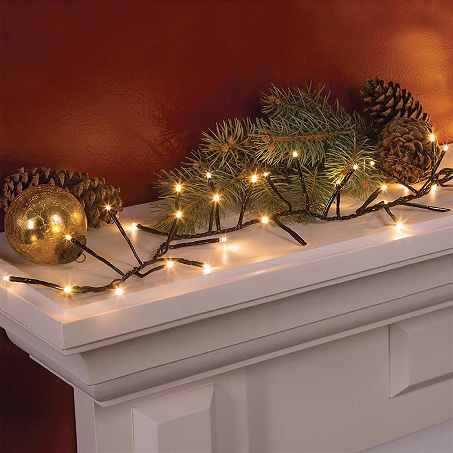 celebrations led hanging light set warm white 144 lights