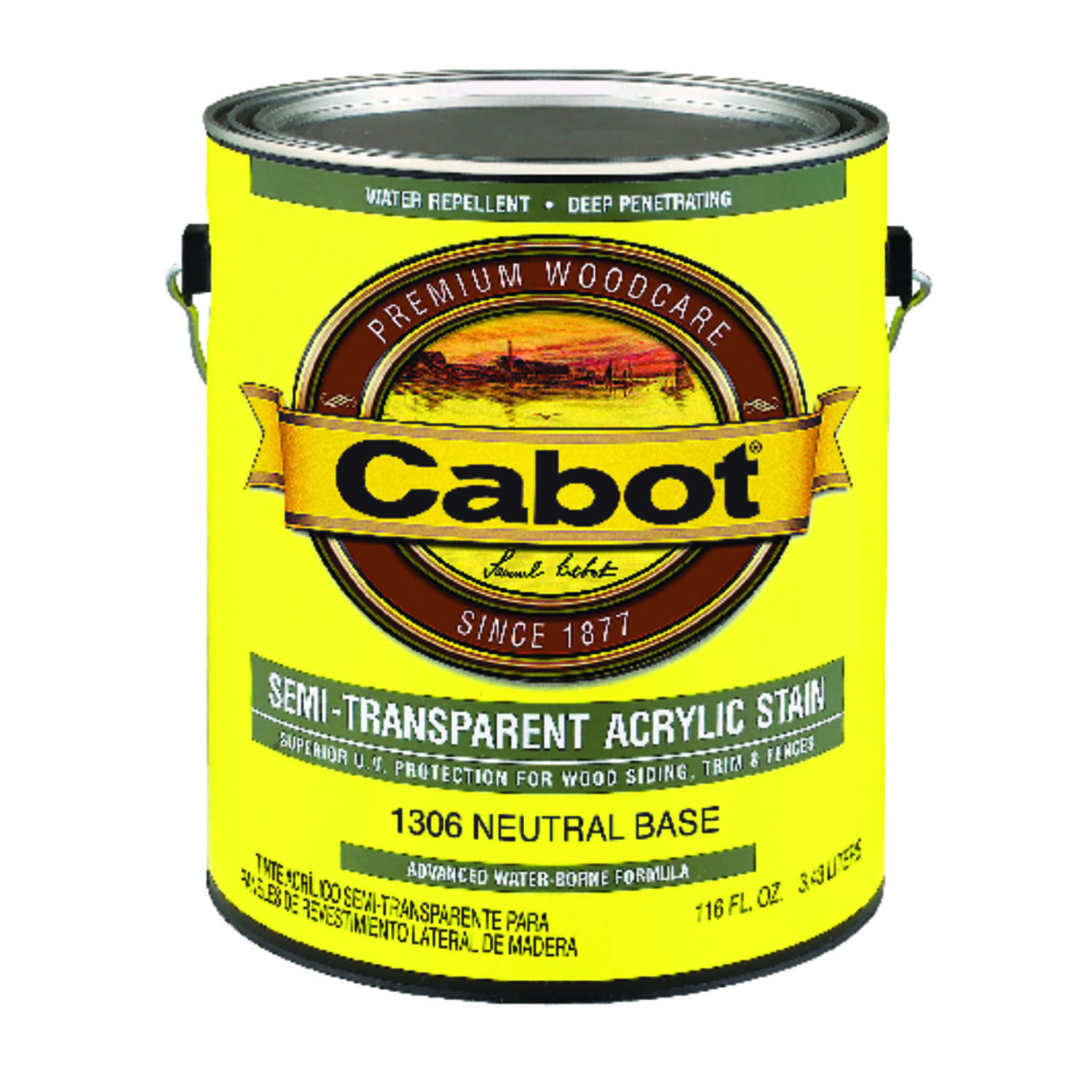 Cabot  Semi-Transparent  Neutral Base  Oil-Based  Acrylic  Siding Stain  1 gal.