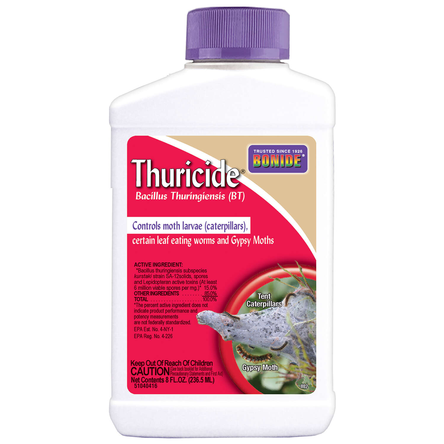 Bonide Thuricide Organic Liquid Concentrate Insect Killer 8 oz.