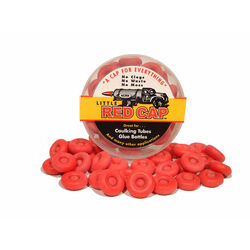 C.A.P. Products  Little Red Cap  Red  Professional  Rubber  Reusable Caulking Caps  10 pc.
