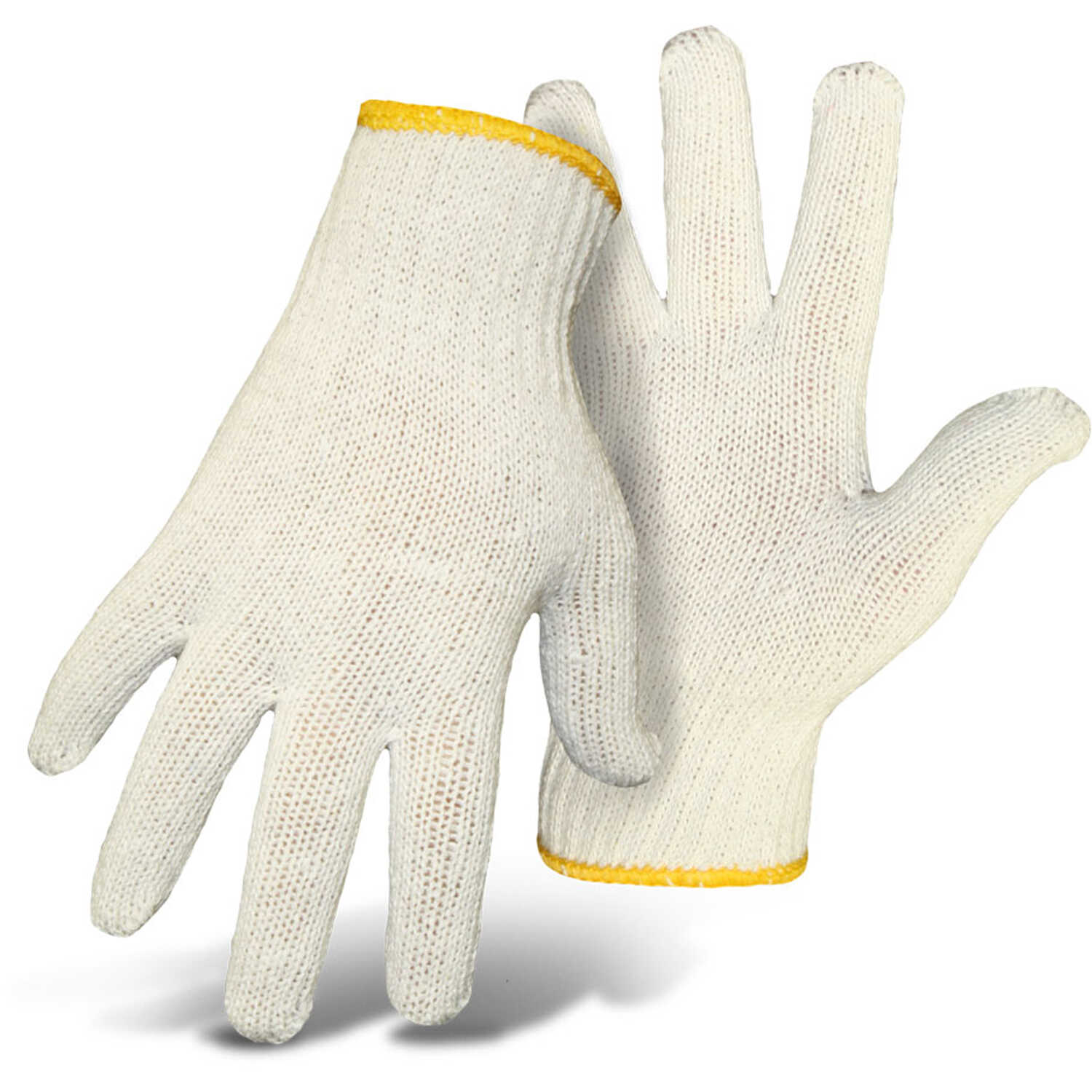 Boss  Women's  Indoor/Outdoor  Cotton/Polyester  Utility Gloves  White  L