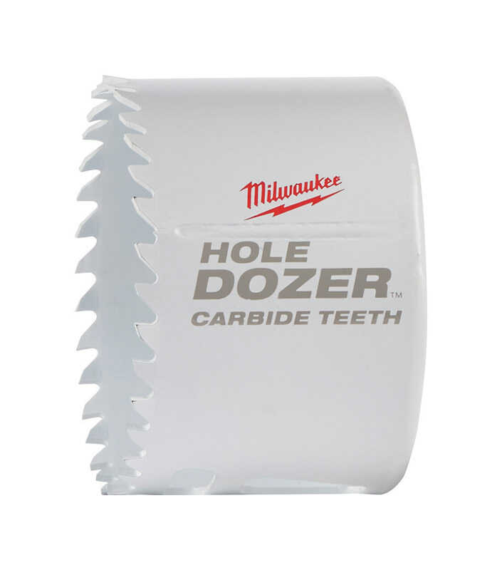 Milwaukee  Hole Dozer  2-5/8 in. Dia. x 1-7/8 in. L Carbide Tipped  Hole Saw  1/4 in. 1 pc.