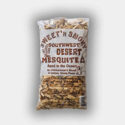 Chigger Creek  Sweet' N Smoky  All Natural Southwest Desert Mesquite  Wood Smoking Chips  200 cu. in