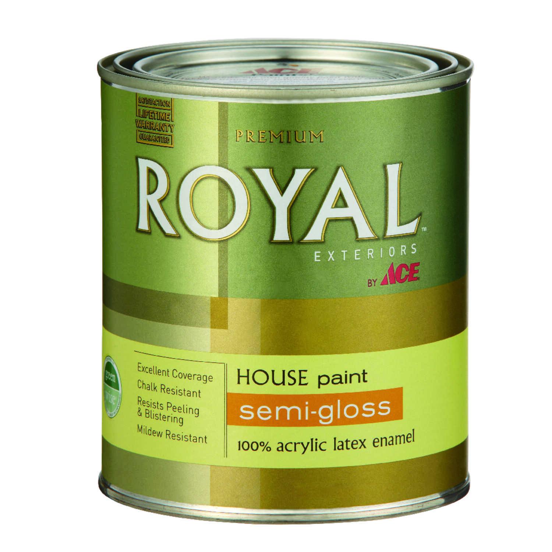 ace royal semi gloss white acrylic latex house trim paint primer