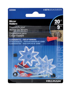 Hillman  AnchorWire  Mirror  Plastic  Mirror Holder  Heavy Duty  4 pk 1 lb.