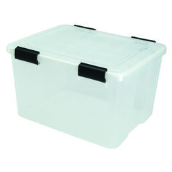 Iris  WEATHERTIGHT  11.7 in. H x 15.7 in. W x 19.7 in. D Stackable Storage Box