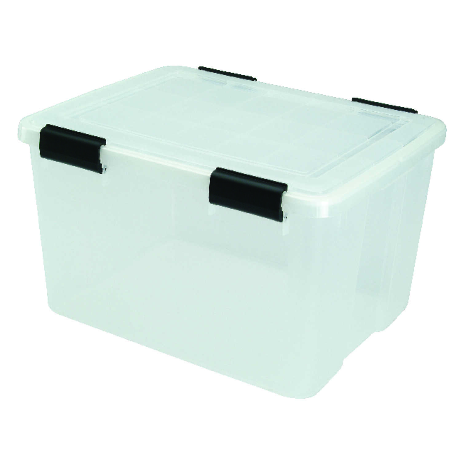 Iris  WEATHERTIGHT  11.7 in. H x 19.7 in. D x 15.7 in. W Stackable Storage Box