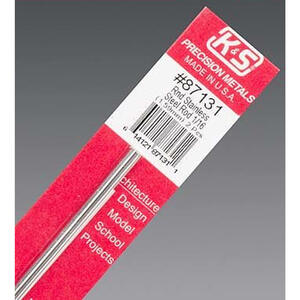 K&S  1/16 in. Dia. x 12 in. L Stainless Steel  Unthreaded Rod