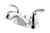 Pfister  Classic  Polished Chrome  Two Handle  Lavatory Faucet  4 in.