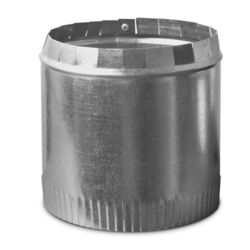 Imperial Manufacturing  6 in. Dia. 30 Ga. Galvanized Steel  Round Starting Collar