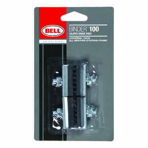 Bell Sports  Binder 100  Rubber  Bike Brake Pads  Black/Silver