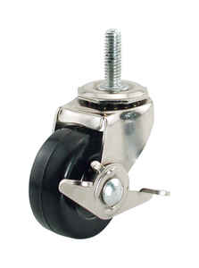 Shepherd  3 in. Dia. Swivel Rubber  Caster  150 lb. 1 pk