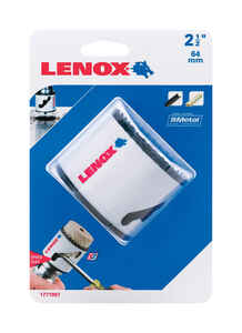 Lenox  Speed Slot  2-1/2 in. Dia. x 1.5 in. L Bi-Metal  Hole Saw  1/2 in. 1 pc.