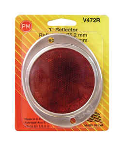 Peterson  Round  Reflector  1  Red