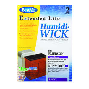 Best Air  Humidifier Wick  1 pk For Fits for Essickair, Emerson and Moistair