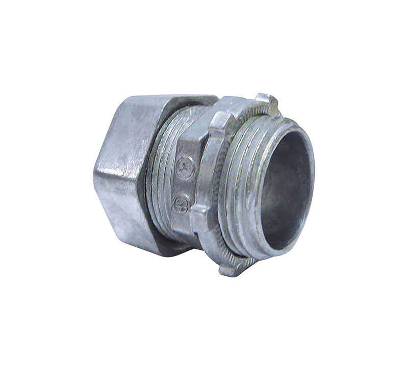 Sigma  1/2 in. Dia. Zinc  Compression Connector  For EMT 50 pk