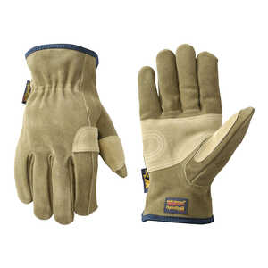 Wells Lamont  Men's  Leather  Work Gloves  L  Tan