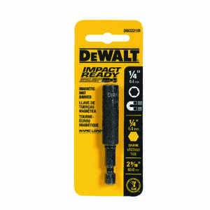 DeWalt  Impact Ready  1/4 in.  x 2-9/16 in. L Black Oxide  Nut Driver  1 pc.