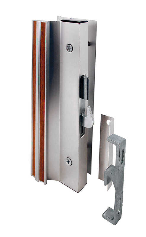 Prime-Line  Aluminum  Indoor and Outdoor  Interior Mount Lock Set