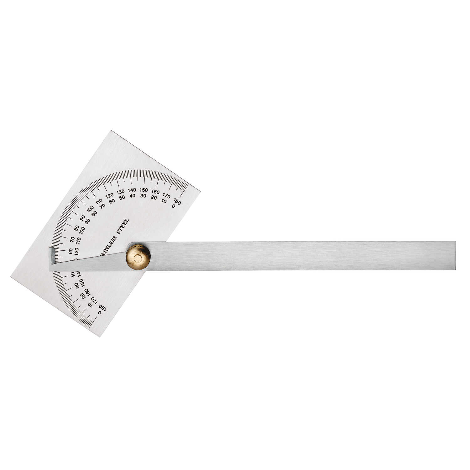 Empire  7-7/8 in. L x 2-3/32 in. W Protractor  6 in. Silver  1 pc.