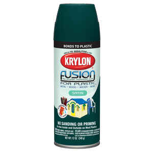 Krylon  Satin  Fusion Spray Paint  12 oz. Hunter Green