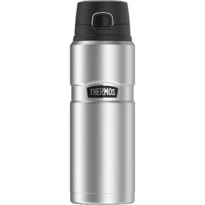 Thermos Stainless King 24 oz. Matte-Steel BPA Free Beverage Bottle