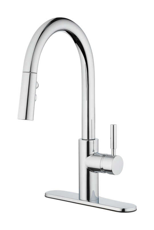 OakBrook  Vela  Pull-Down  One Handle  Chrome  Pulldown Kitchen Faucet