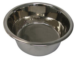Hilo  Silver  Plain  Stainless Steel  2 qt. Pet Dish  For Dogs