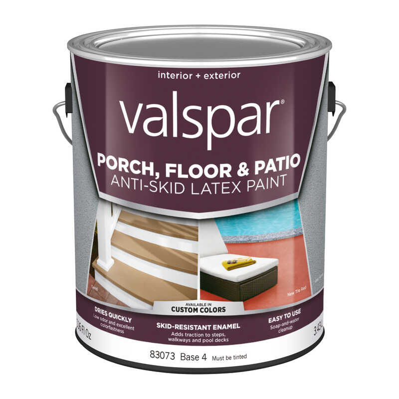 Valspar  Anti-Skid  Clear  Base 4  Latex  Porch & Floor Paint  1 gal.