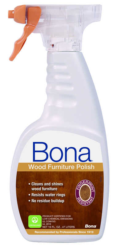 Bona  No Scent Furniture and Cabinet Cleaner and Polish  16 oz. Liquid
