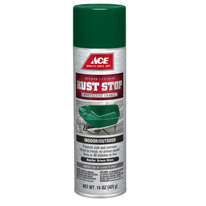 Ace  Rust Stop  Gloss  Hunter Green  Spray Paint  15 oz.