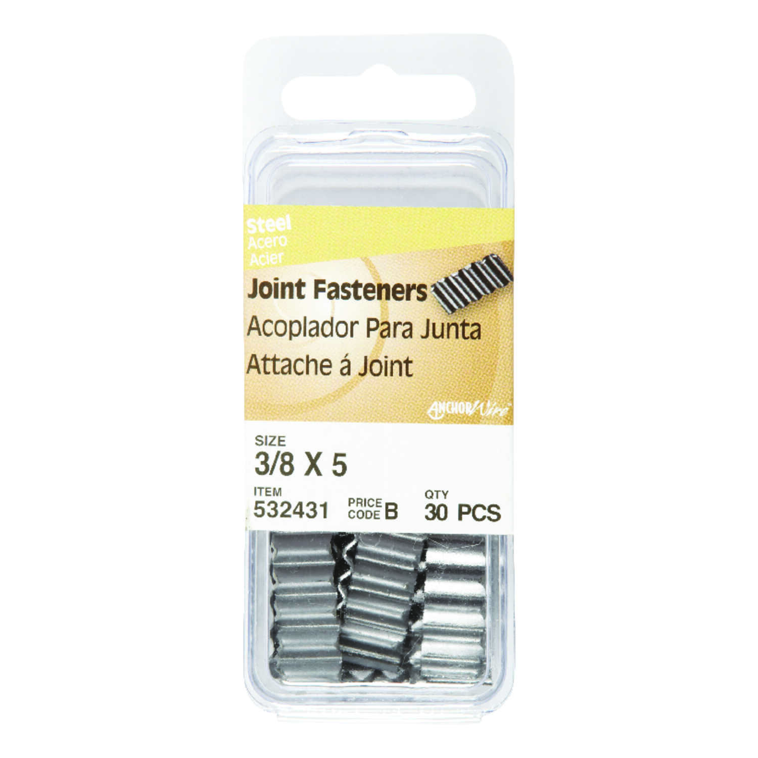 Hillman  1 in. L Joint  Steel  Joint Fastener  Joint Head Corrugated  30 pk