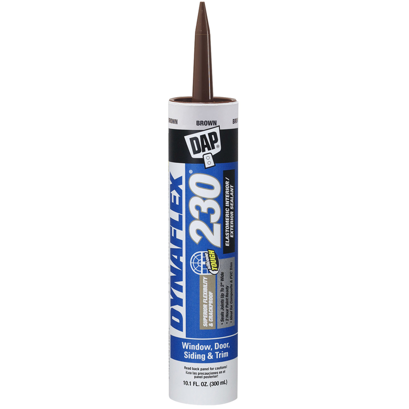 Dap  Dynaflex 230  Silicone  Brown  10.1 oz. Sealant