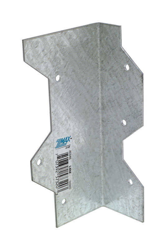 Simpson Strong-Tie  1.375 in. H x 2.4 in. W x 5 in. L Galvanized Steel  L-Angle