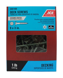 Ace  No. 9   x 3 in. L Star  Bugle Head Ceramic Coated  Premium Deck Screws  1 lb.