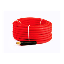 Senco  50 ft. L x 1/4 in. Dia. Rubber  Hybrid Air Hose  300 psi Red
