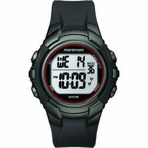 Timex  Marathon  Unisex  Round  Gray/Red  Sports Watch  Digital  Resin  Water Resistant