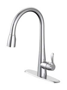 OakBrook  Vela  Pull-Down  One Handle  Chrome  Kitchen Faucet