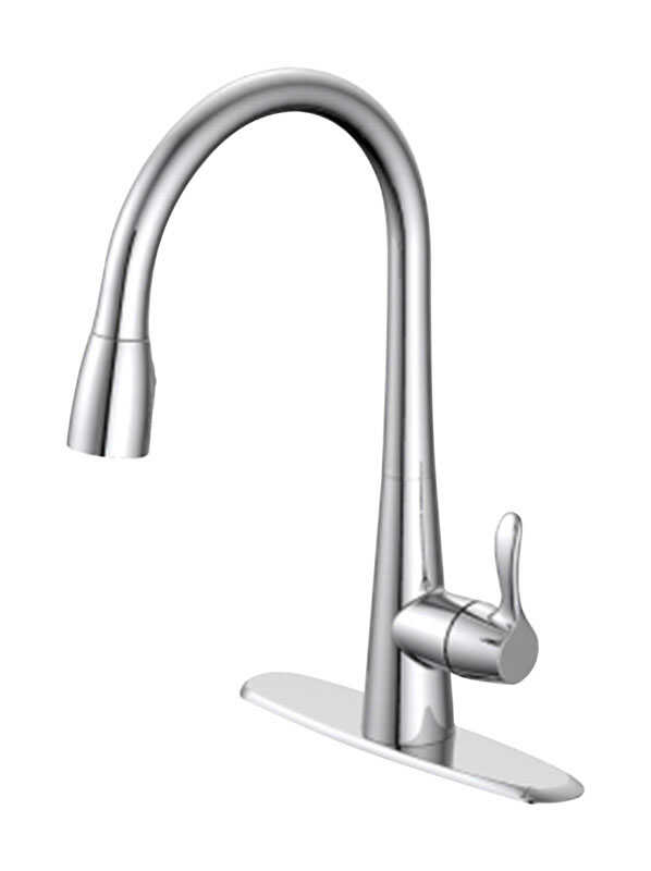 Oakbrook Vela Pull Down One Handle Chrome Kitchen Faucet