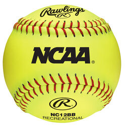 Rawlings  NCAA  Yellow  Synthetic Leather  Softballs  12 in.