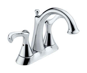 Delta  Carlisle  Chrome  Two Handle  Laundry Faucet  4 in.