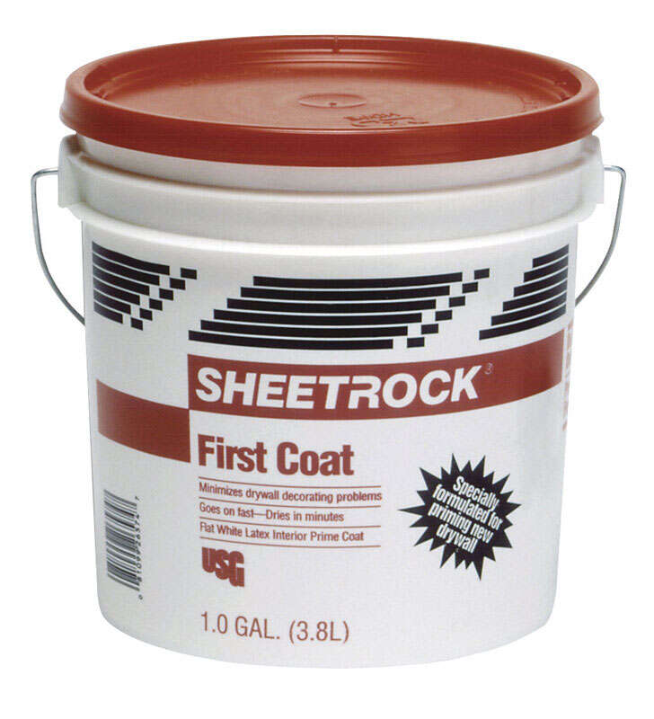 Sheetrock  First Coat  White  Flat  Latex  Primer  1 gal.